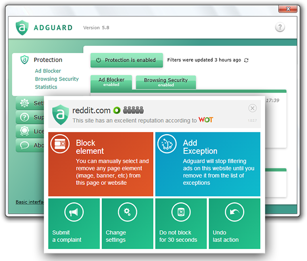 Click to view Adguard Ads Blocker 4.2.0 screenshot